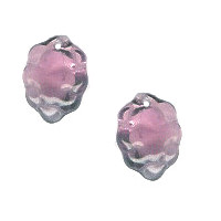 10x14mm Transparent Purple Pressed Glass GRAPES Charm Beads