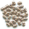 3x7mm Antiqued Metallic Copper Acrylic Dimpled Flat OVAL Beads