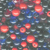 3mm - 6mm Black, Red & Blue Acrylic ROUND Bead Mix
