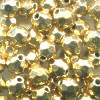 6mm Metallic Gold Acrylic Faceted ROUND Beads