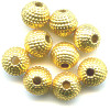 6mm Metallic Gold Acrylic Textured ROUND Beads