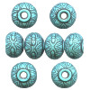 12x15mm Washed Turquoise Blue Moroccan Style Acrylic RONDELL Beads