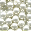 5mm White Pearl Acrylic ROUND Beads