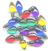 8x18mm Acrylic CHRISTMAS LIGHTS Charm Bead Mix