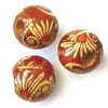 12mm Painted Wood ROUND Beads - Asian Red