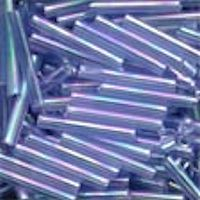 "MILL HILL® #G90168 1/2"" (Japanese) 1.9x14mm Mill Hill BUGLE BEADS: Transparent Light Sapphire Iridescent"