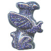 20mm Blue Goldstone 3-D GRIFFIN Bead