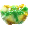 37x50mm White, Green & Yellow Jadeite Carved CRAB Pendant/Focal Bead