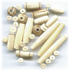 5mm to 40mm Natural Bone Bead Mix