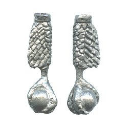 "1/2"" x  1-3/4"" Antiqued Pewter Eagle Claw BOLO CORD TIPS"