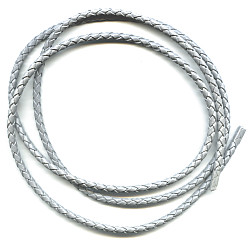 "36"" Braided Grey Leatherette BOLO CORD"