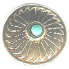 "18mm (3/4"") *Vintage* Goldtone Metal & Faux Turquoise *Southwestern* (Loop-Back) CONCHO BUTTON CLOSURE"