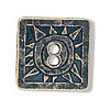 "1"" Antiqued Brasstone Metal (2-Hole) *Celestial Square* BUTTON CLOSURES"