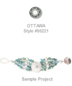 "5/8"" Antiqued Silvertone Metalized Acrylic & Faux Pearl (Loop-Back) Round *Ottawa* CONCHO BUTTON CLOSURES"