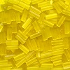 CZECH #2 (2x5mm) *Hex Cut* BUGLE BEADS: Transparent Yellow Satin