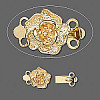 8mm Gold Plated Floral 2-Strand BOX CLASP