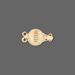 8mm Gold Plated Scallop Shell 2-Strand BOX CLASP
