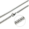 "22"" Finished Stainless Steel 2.5mm CABLE CHAIN Necklace with Lobster Claw Clasp"