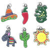 *FIESTA* Enameled Metal Charm Assortment