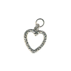 "1/2"" Cast Pewter Heart Charm"