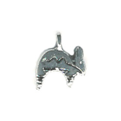 12x12mm Silvertone Cast Pewter 3-D Southwest Style Rabbit Charm