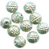 6mm Light Blue & Silver Cloisonne ROUND Beads