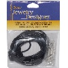 Darice Jewelry Designer® 2mm Black Leather Cord NECKLACE KIT with Silvertone Findings