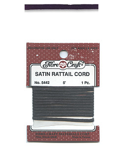 5 ft. Black 3mm SATIN RATTAIL CORD