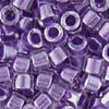 DB0923V: MIYUKI DELICAS - Transparent Crystal Luster, Color-Lined Grape
