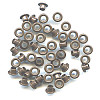 "3/16"" (5mm) Round Metal EYELETS - Dark Brown"