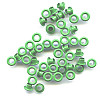 "3/16"" (5mm) Round Metal EYELETS - Green"