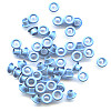 "3/16"" (5mm) Round Metal EYELETS - Light Blue"