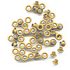 "3/16"" (5mm) Round Metal EYELETS - Mustard Brown"