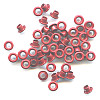 "3/16"" (5mm) Round Metal EYELETS - Red"