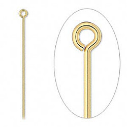 "2"" Gold Plated (20 gauge) EYE PINS"