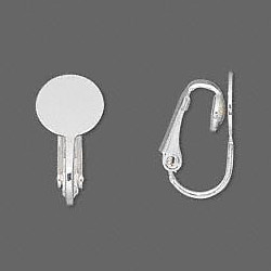 15mm Surgical Steel Lever-Back EAR CLIPS, 7mm Flat Pad