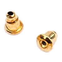 6x5mm Gold-Plated BULLET CLUTCH EARRING BACKS