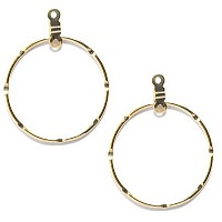 30mm Gold-Plated Dreamcatcher Style Notched EARRING HOOP Components