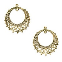 25x28mm Gold Plated Filigree EARRING HOOP / CHANDELIER Components