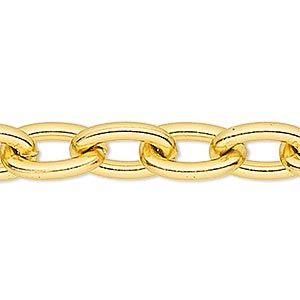 "32"" Goldtone Large 5x7 Oval Link CHAIN, Continuous Link (No Clasp)"