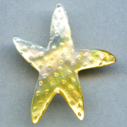 50mm Gold Lip Shell STARFISH Pendant/Focal Bead