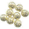 12mm 14kt Gold-Plated FILIGREE ROUND Beads