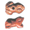 12x18mm Red Goldstone FROG Animal Fetish Bead
