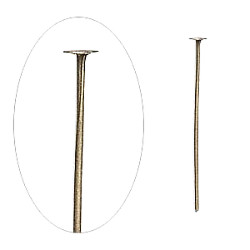 "1-1/4"" Brass (21 gauge) HEAD PINS"