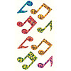 Hambly Studios® Prismatic *Multicolored Musical Notes* STICKERS