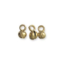 7-8mm Brass India Dancing BELLS / DROPS