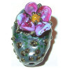 20x30mm Lampwork Glass *In My Dreams* Sculpted CACTUS Focal Bead ~ Carolyn Driver