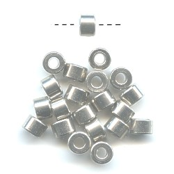 4x6mm Solid Nickel CYLINDER / DRUM Beads