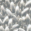 3x7mm Nickel-Plated Brass Spiral RICE Beads