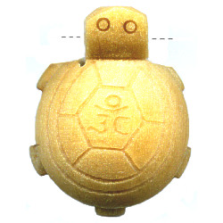 20x28mm Natural Wood TURTLE Pendant/Focal Bead